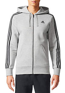 Men's 3-Stripe Full-Zip Fleece Hoodie