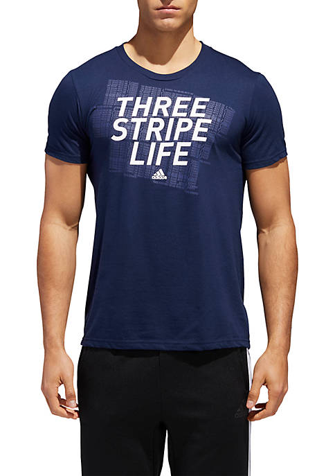 adidas Three Stripe Life Tee