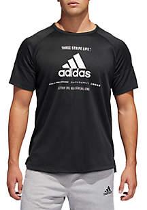 adidas Team Issue Short Sleeve Tee- Black