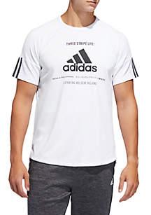adidas Team Issue Short Sleeve Tee- White