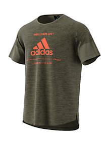 adidas Team Issue Short Sleeve Tee- Raw Khaki