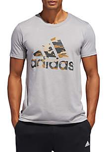adidas Short Sleeve Camo Logo Tee