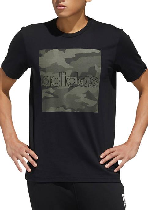 adidas Soft Feel Camo Print T-Shirt