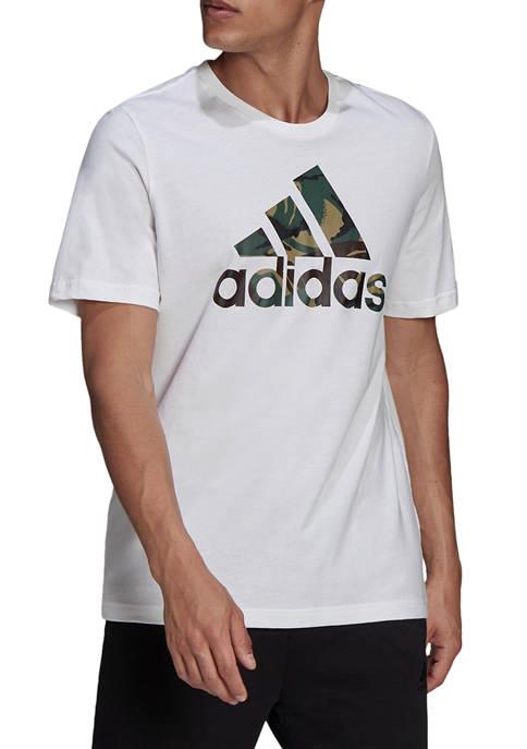 Big & Tall Camo Badge of Sport T-Shirt