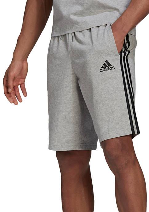 adidas Basic 3 Stripe Gray Shorts
