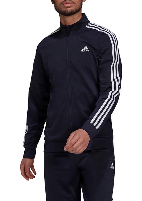 Big & Tall Essentials 3 Stripe Tricot Jacket