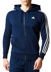 Men's Essential 3-Stripe Fleece Zip Hoodie