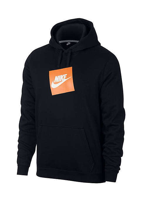 Nike® Long Sleeve Box Logo Fleece Hoodie