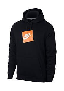 Long Sleeve Box Logo Fleece Hoodie