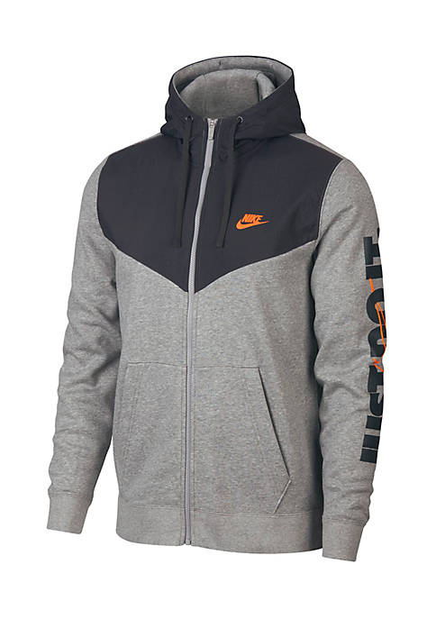 Nike® Long Sleeve Full Zip Fleece Hoodie
