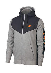 Long Sleeve Full Zip Fleece Hoodie