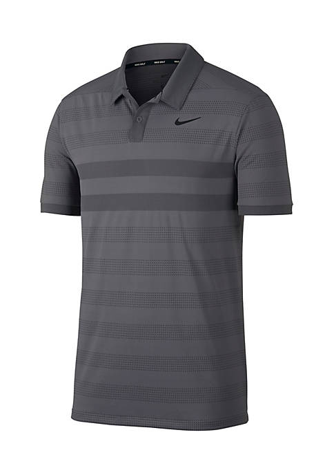 Nike® Short Sleeve Zonal Cooling Striped Golf Polo