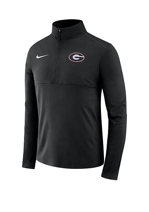 Nike® NCAA Georgia Bulldogs Long Sleeve 1/2 Zip