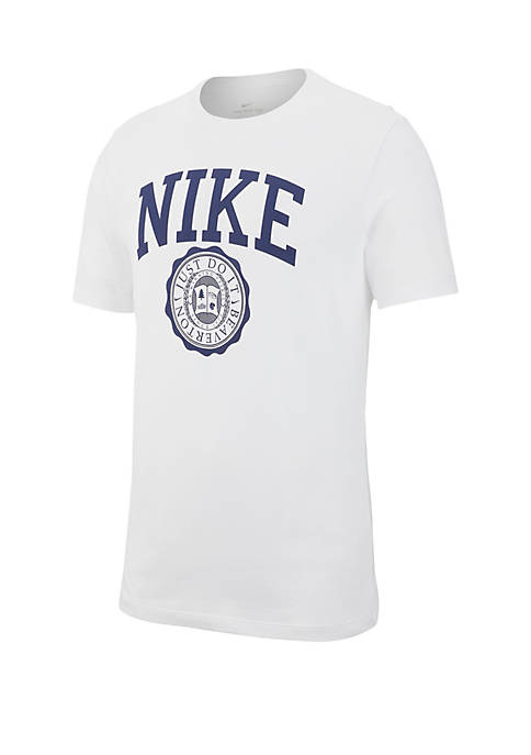 Nike® Short Sleeve Athletic Crest T Shirt