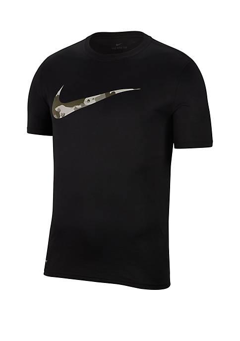 Nike® Dry Legend Camo Swoosh T Shirt