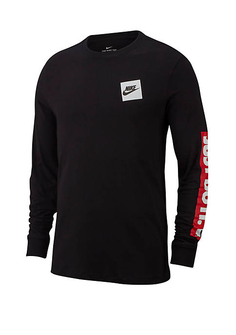 Nike® Just Do It Outline Long Sleeve T