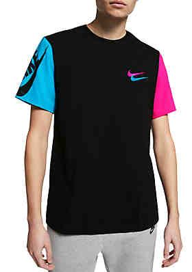 72d54ed03c7d Nike® City Brights Colorblock Sleeve T Shirt ...