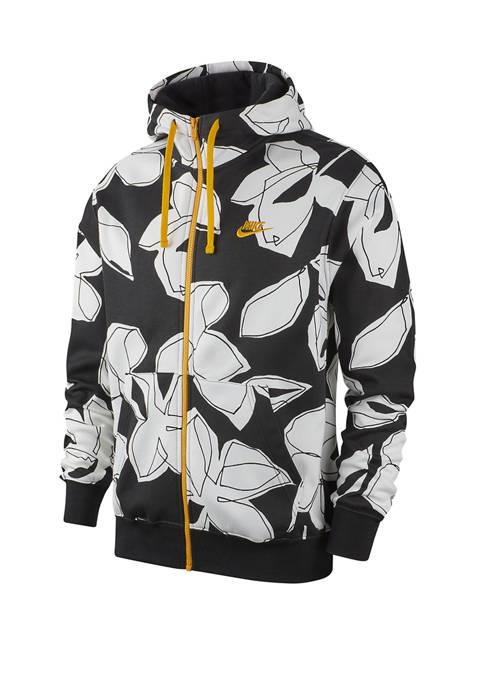 Sportswear Club Full Zip Floral Hoodie