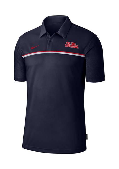 Nike® NCAA Ole Miss Rebels Knit Polo Shirt