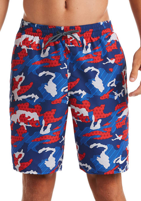 Nike® 9 Inch Americana Camouflage Volley Shorts