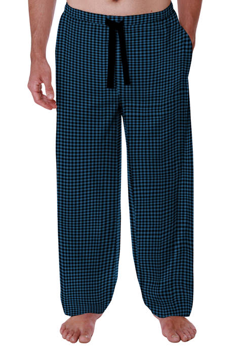IZOD Rayon Lounge Pants-Black Blue Mini Buffalo