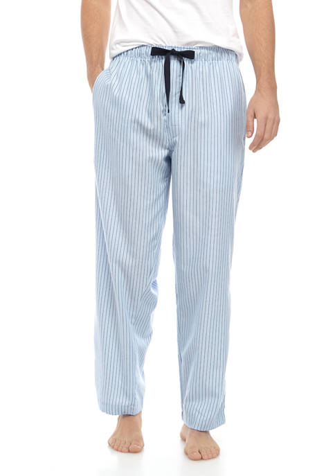 IZOD Mens Blue Stripe Sleep Pants
