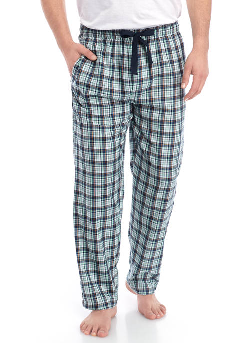 IZOD Blue and Green Plaid Pajama Pants