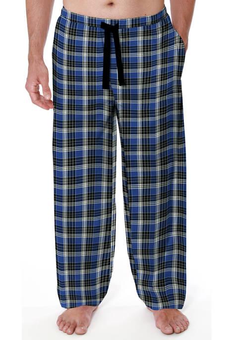 IZOD Blue Black Plaid Twill Pajama Pants