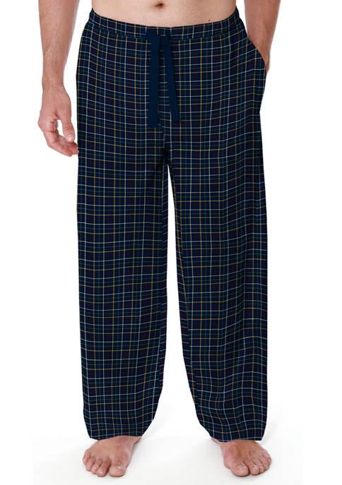 IZOD Navy Grid Twill Pajama Pants