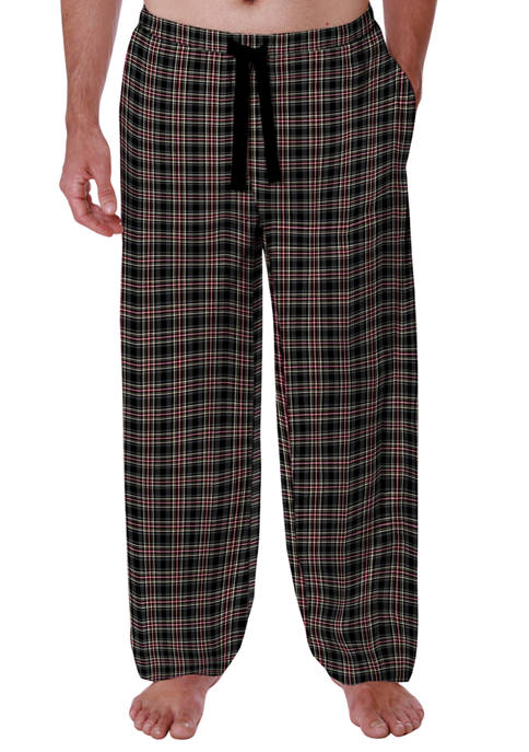 Polyester Rayon Plaid Sleep Pants