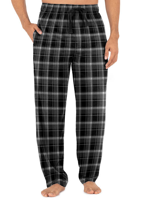 IZOD Silky Fleece Plaid Pajama Pants