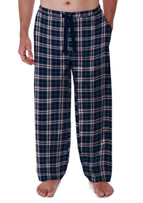 Silky Fleece Pajama Pants- Navy Plaid
