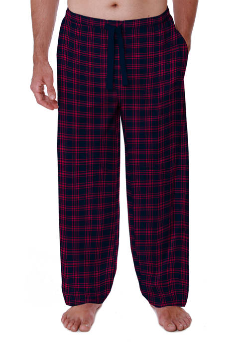 IZOD Silky Fleece Plaid Pajama Pants