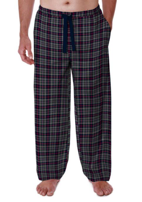 IZOD Plaid Silky Fleece Pajama Pants