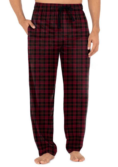 Silky Fleece Plaid Pajama Pants