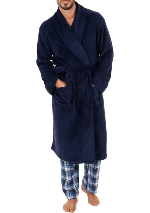 IZOD Silky Fleece Navy Blue Pajama Pants