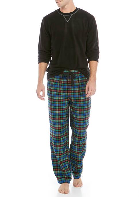 IZOD 2 Piece Top and Plaid Pant Set