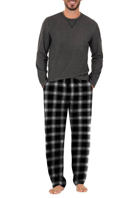 IZOD Black Microfleece Boxed Pajama Set