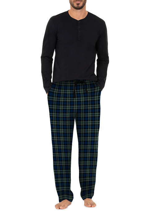 IZOD Jersey Top and Microfleece Pants Boxed Pajama