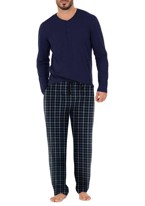 Jersey Top and Microfleece Pants Boxed Pajama Set