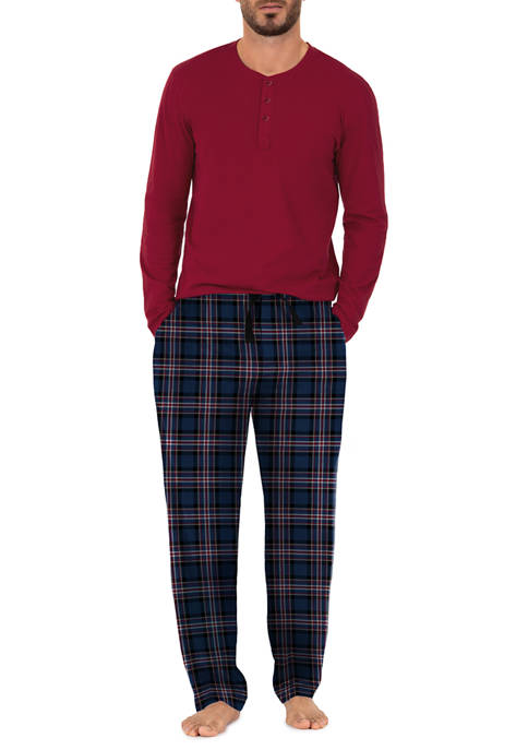 IZOD Jersey Top and Microfleece Pants Boxed Pajama