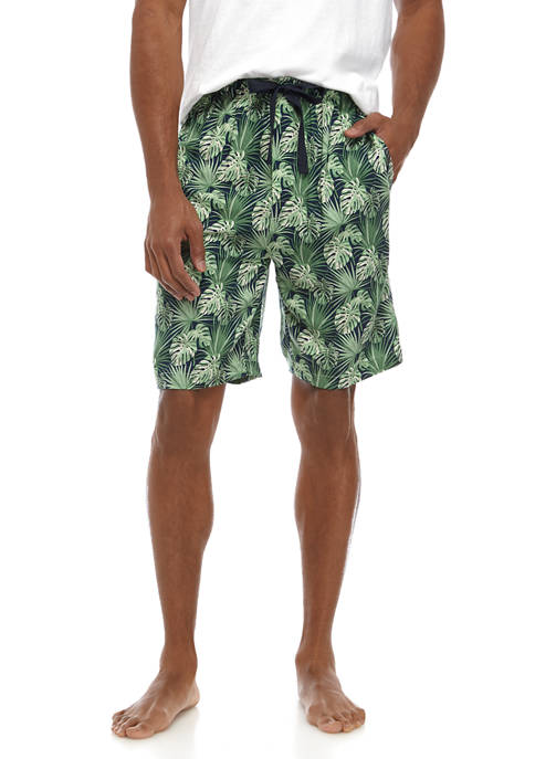 IZOD Tropical Print Sleep Shorts