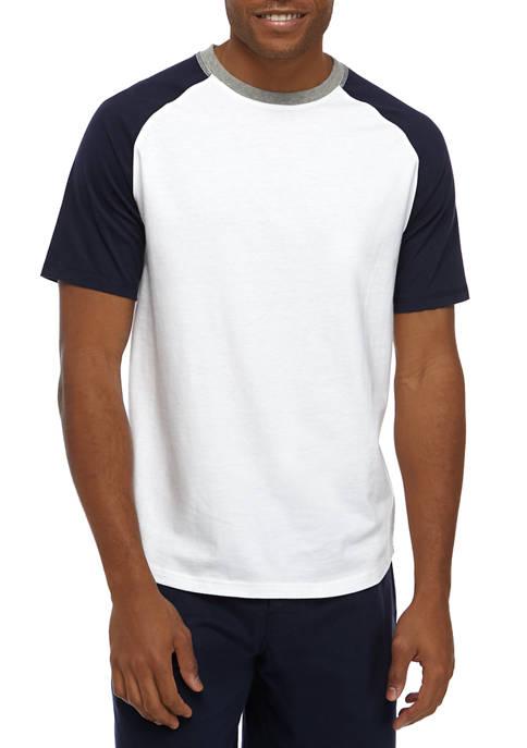 Mens Raglan Color Block T-Shirt
