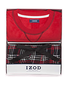 Boxed Crew Top Sleep Pants Loungewear Set
