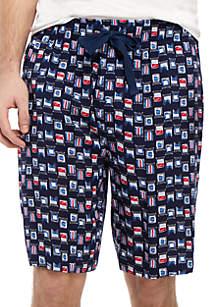 IZOD Flag Print Sleep Shorts