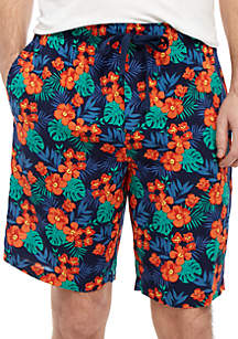 IZOD Floral Sleep Shorts