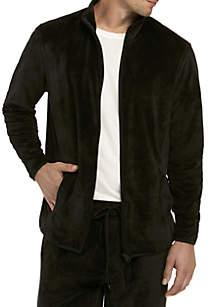 Velour Full Zip Jacket Top