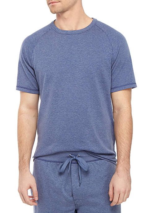 Mesh Crew Neck T Shirt