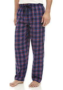 Navy and Red Plaid Sleep Pants