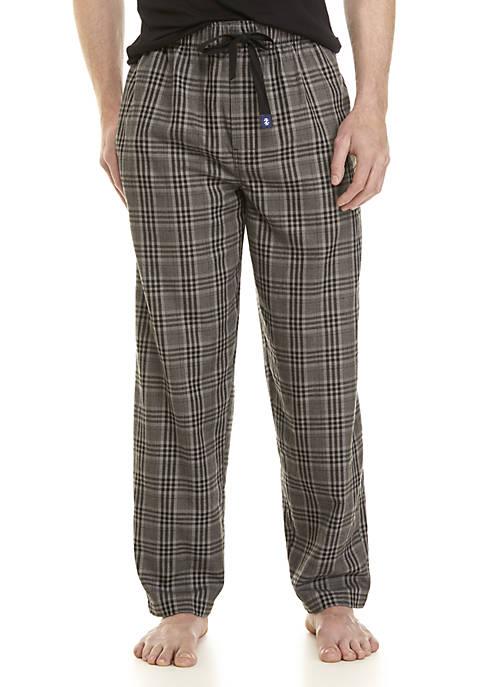 IZOD Big & Tall Plaid Sleep Pants